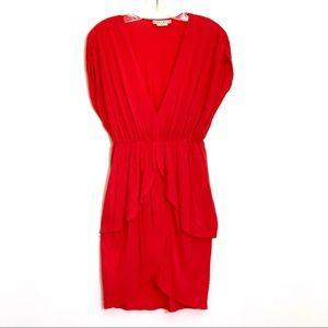 Alice + Olivia soft cotton blend red jersey dress